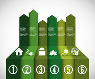 Business infographic with icons Stock Image