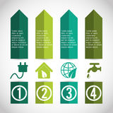 Business infographic with icons Royalty Free Stock Images