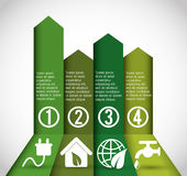 Business infographic with icons Stock Images