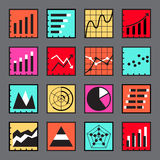 Business Infographic icons set. For design Stock Image