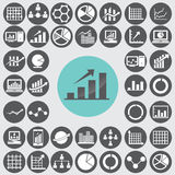 Business infographic icons set. Royalty Free Stock Image