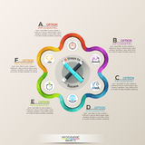 Business infographic with icons Royalty Free Stock Image