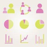Business Infographic icons - Vector Graphics Stock Images
