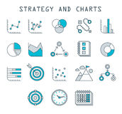 Business Infographic icons  Vector Graphics. Business Infographic icons - Vector Graphics modern line style Stock Image