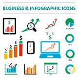 Business infographic icons Stock Photos