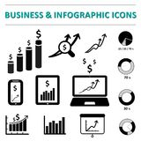 Business infographic icons. Business and infographic icons Vector illustration Stock Photos