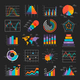 Business Infographic icons. Royalty Free Stock Photography