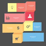 Business Infographic. Marketing concept Graphics, illustrations and diagrams Stock Images