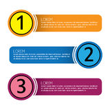 Business infographic numbered banners - vector graphic collectio. N set Royalty Free Stock Photos