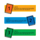 Business infographic numbered banners - vector graphic collectio Stock Photography