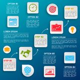 Business infographic options Royalty Free Stock Images