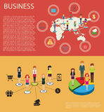 Business infographic with people and graphs Royalty Free Stock Photography
