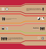 Business Infographic in Retro Style Stock Image