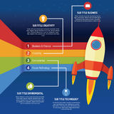 Business infographic rocket royalty free illustration
