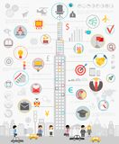 Business Infographic set with charts and other elements. Royalty Free Stock Photo