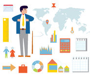 Business infographic set with icons Stock Image
