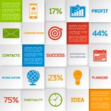 Business infographic squares Royalty Free Stock Image