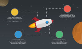 Business Infographic start up concept element Royalty Free Stock Photography