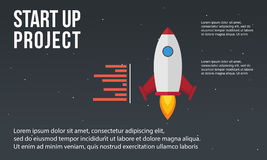 Business Infographic start up element concept Stock Image