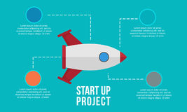 Business Infographic start up element Stock Photos