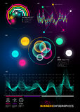 Business infographic statistic charts Stock Image