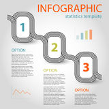 Business infographic 3 steps timeline template Royalty Free Stock Image