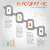 Business infographic 4 steps timeline template Royalty Free Stock Photos