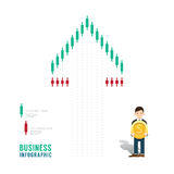 Business infographic stock candle chart graph concept step to su Royalty Free Stock Photo