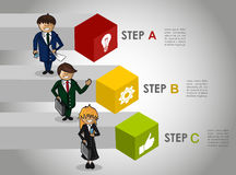 Business infographic strategy concept work. Modern business strategy plan by steps concept illustration. EPS10 vector Stock Photos