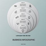 Business infographic for success project and other Your variant. Stock Photos