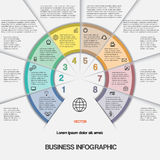 Business infographic for success project and other Your variant Stock Images