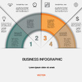 Business infographic for success project and other Your variant. Stock Photography