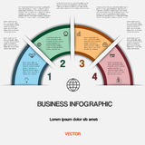 Business infographic for success project and other Your variant Royalty Free Stock Image