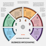 Business infographic for success project and other Your variant Royalty Free Stock Photography