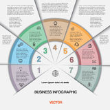 Business infographic for success project and other Your variant. Royalty Free Stock Photos