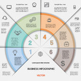Business infographic for success project and other Your variant. Stock Image