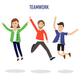 Business infographic with teamwork Royalty Free Stock Image