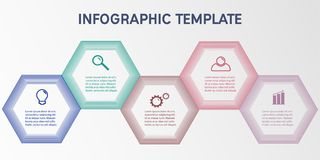 Business infographic template. Abstract hexagon business Infographics elements, presentation template flat design vector illustration for web design marketing vector illustration