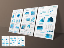 Business Infographic template or brochure set. Royalty Free Stock Photography