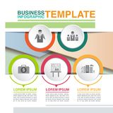 Business infographic template royalty free stock image