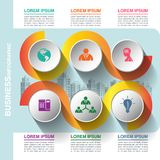 Business infographic template stock photography