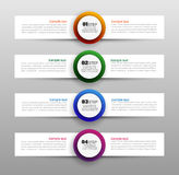 Business infographic template with circle options and steps. Can be used for diagram infograph chart business presentation or web. Vector Royalty Free Stock Images