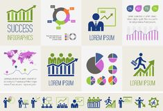 Business Infographic Template. Royalty Free Stock Photography