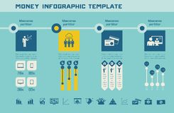 Business Infographic Template. Stock Images