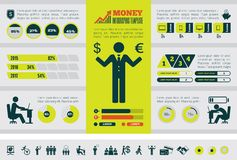 Business Infographic Template. Royalty Free Stock Photo