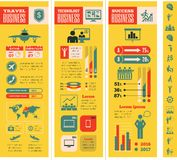 Business Infographic Template. Royalty Free Stock Images
