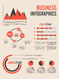 Business infographic template. Business infographics template decorated with different graphs for data presentation Stock Images