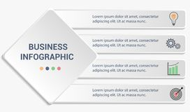 Business infographic template. stock photography