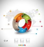 Business infographic template Royalty Free Stock Images