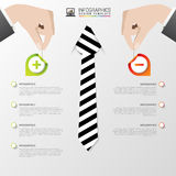 Business infographic template. Modern design. Pros and cons. Vector illustration Stock Photos